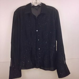 ☀️The Limited Black Shimmer Blouse